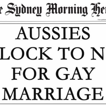 Gay Marriage Headline