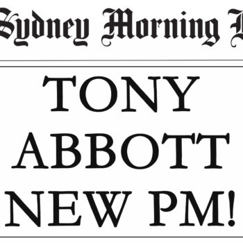 Tony Abbott Headline